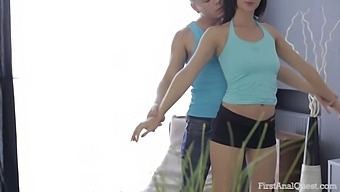 Firstanalquest.Com - First Time Anal Sex With Sporty Teen Brunette And Trainer