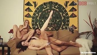 Vip Sex Vault - Hot Teen Brunette Bangs Hardcore With Swinger Couple (Lullu Gun & Sicilia)
