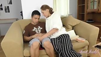 Auntjudys - 40yo Naughty Teacher Mrs. Marta Fucks Her Student