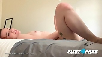 Olivia Byrne - Flirt4free - Sexy College Girl Next Door Fingers Herself To A Naughty Daddy Fetish