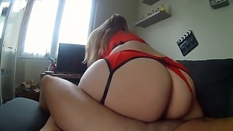 Big Ass Step Mom Cheats With Her Huge Cock Stepson!