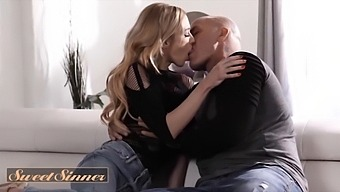 (Derrick Pierce) Makes (Aiden Ashleys) Pussy Squirt All Over His Big Cock - Sweet Sinner